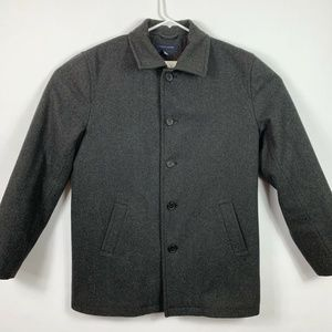Tommy Hilfiger Mens Medium Coat Gray Button Front